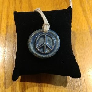 Handmade Peace Sign Necklace